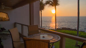 The view from the lanai is perfect for viewing sunsets.